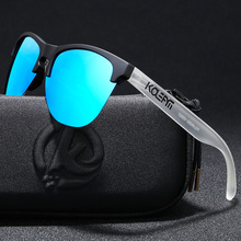 KDEAM custom logo women men sun glasses half-frame TR90 polarized UV400 frog sunglasses with OEM