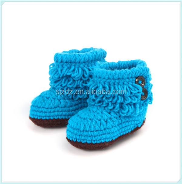 Factory wholesale knit baby shoes handmade booties