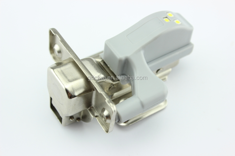 wholesale 110 degree kitchen cabinet hydraulic stainless steel soft close hinges concealed cabinet hinge with led light