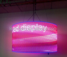 p6.67/p10 soft flexible indoor led displays/round /circle can be any shape led module /indoor sex movie xxxx