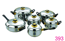 Popular Style Hot Stainless Steel Cookware Set 12 PCS
