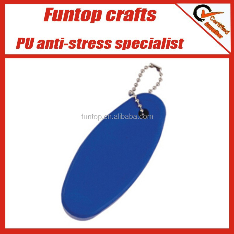 Customize logo print floating pu stress key chain