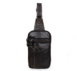7296J JMD 100% Genuine Leather Mens Chest Bag Small Crossbody Bags