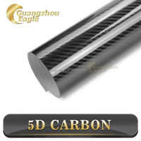 2016 New 5D Carbon Fiber Color 6D Glossy Carbon Fiber Vinyl