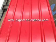 different length painting galvanized steel roofing
