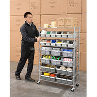 10F - Mobile Chrome Metal Wire Tool Display Rack , NSF & SGS Approval