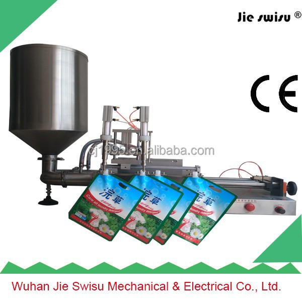 Small stand up pouch/small pouch/jam filling capping machine