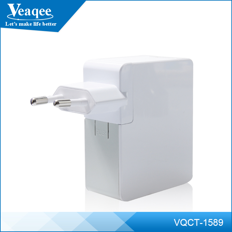 Veaqee multiple plug 4usb multi pin mobile phone charger for samsung