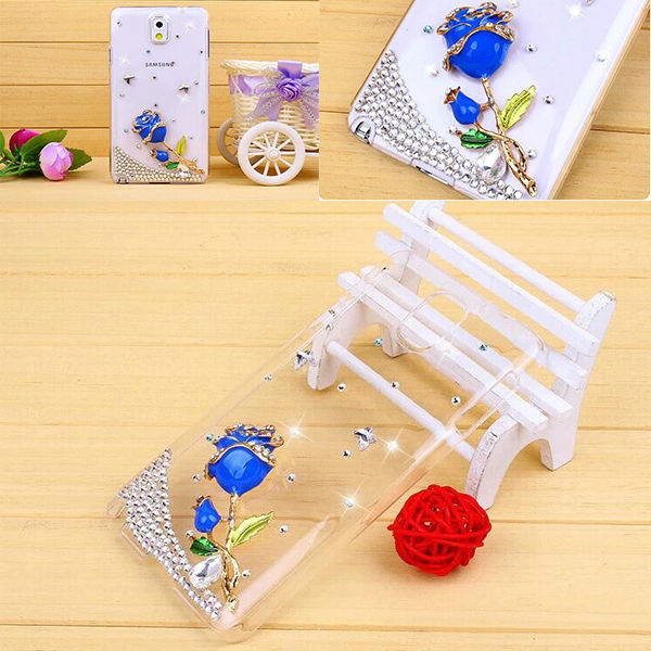 Bling Handwork Rose Back Case For Samsung Galaxy Note 3 n9000