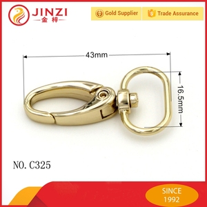 zinc alloy charming style industrial snap hook for handbag