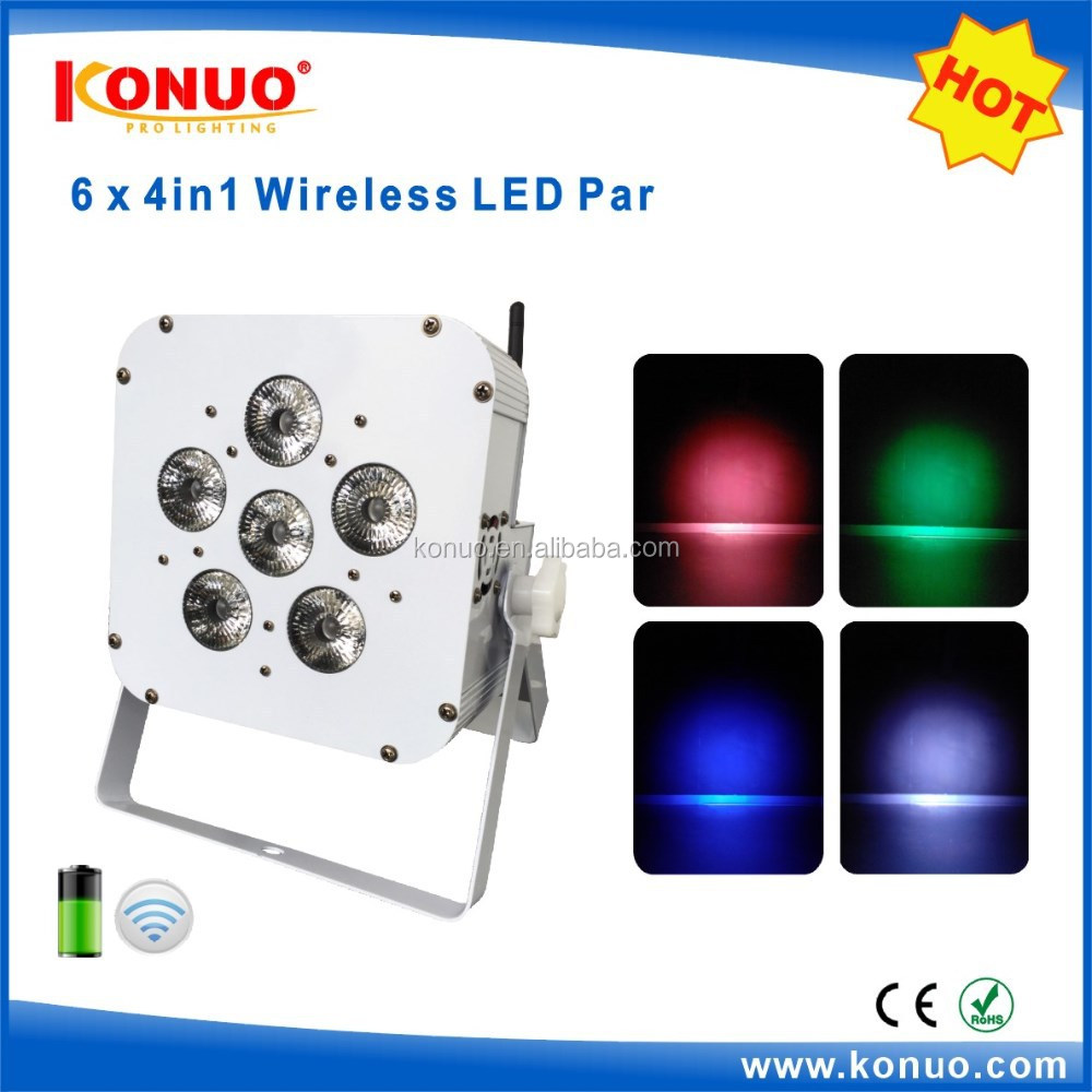 Hot sale high power 6x8W RGBW 4in1 battery led par light/ led battery stage light