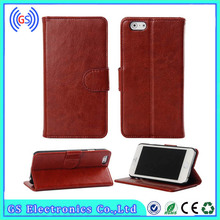hot luxury fold card holder open portfolio ultra-thin flip leather case for iphone 4