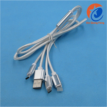 Best Customized silver gold 3 in 1 Cables Type-c Usb Cable For smartphone 1.2m