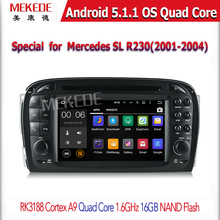 FACTORY CAR DVD PLAYER Android 5.1 Quad core built-in GPS WIFI 3G DVD DVR RDS for B/e/n/z SLK-171 2004-11
