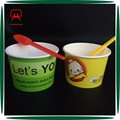 Disposable yogurt cup,ice cream paper cup, salad cup with optional spoon