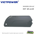 Victpower 20.4ah 36v 10S6P lithium battery pack for Electric bicycle