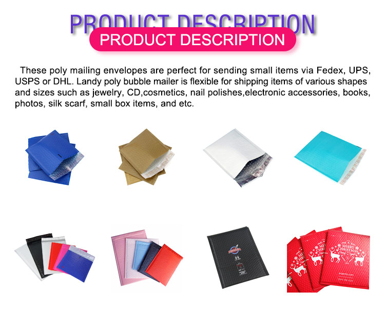 Custom bubble shipping poly mailers padded envelopes,Plastic poly mailers shipping bubble envelope bag logo self sealing