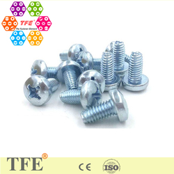 zinc plated carbon steel Philips pan head self tapping screws/bolts grade 8.8 galvanized
