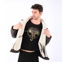 Latest Design OEM Fashion Winter Cheap Men's Shearling Coats UK
