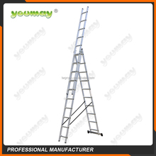 EN131 Aluminum ladder 3-section AC0310A/used ladders/telescope/loft