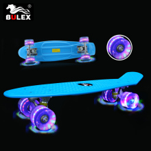 2017 wholesale skateboards 22'' PP fish plastic skate board led for children
