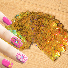 Wholesale Hot Selling Product New Nail Art Decal DIY Polish Useful Golden 3D Hollow Nail Sticker