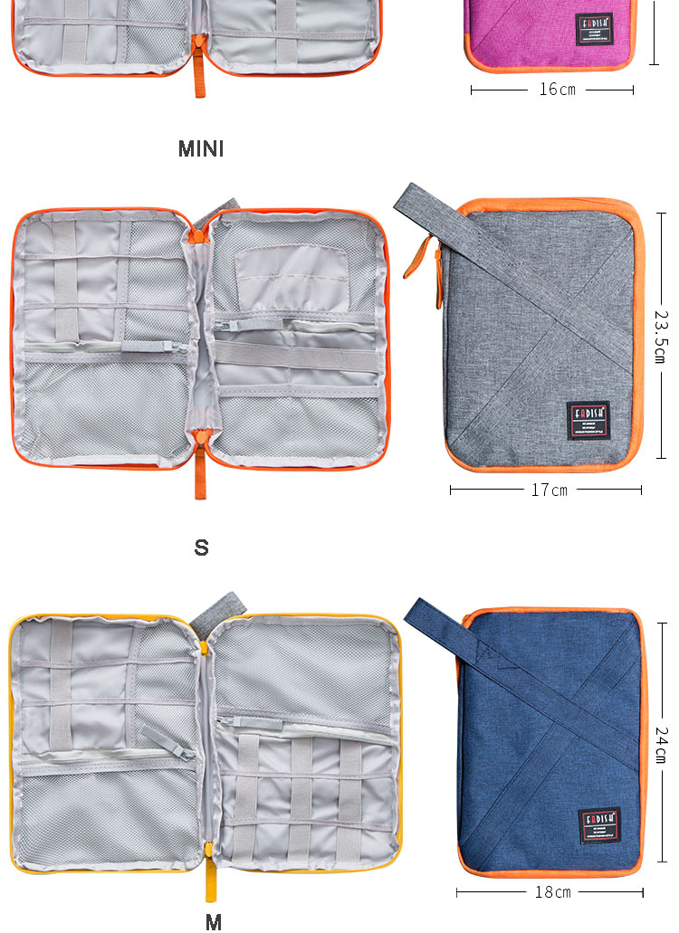 Data Cable Storage Bag Travel Portable Electronic Gadget Cable Organizer Digital Bag