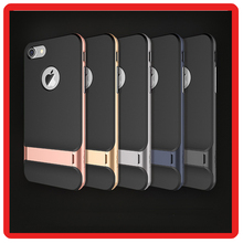 Original Rock Royce mobile phone case for apple Stand tpu+pc covers for iphone 7 plus case