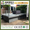 Eco-friendly timber for wpc decking anti-uv wpc Deck Boards good quality synthetic wood decking