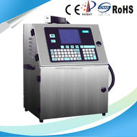Continuous industrial plastic bottle inkjet batch code printer