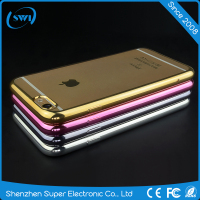 Factory price hot promotion clear plating cellphone case for iphone 5 5S 5C