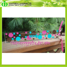 DDR-L001 ISO9001 Chinese Factory Wholesales Clear Acrylic Ruler With Printing