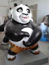 China Movie Character Fiberglass Panda Sculpture