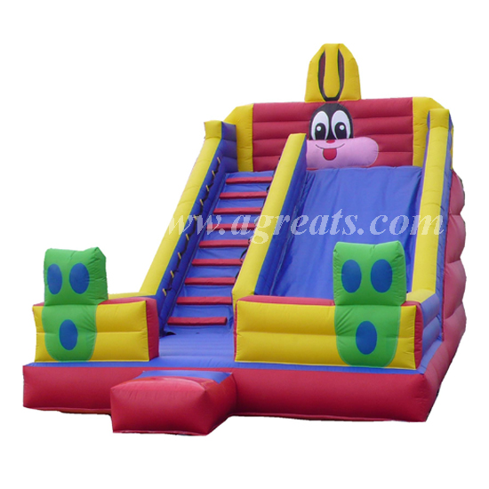 Best seller water proof rabbit character inflatable slide G4105