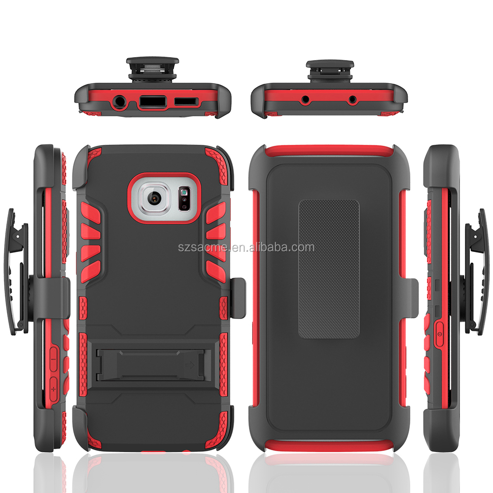 3 in 1 Shockproof Ivi Belt Holster Hybrid Combo Kickstand Case For Samsung Galaxy Note 5
