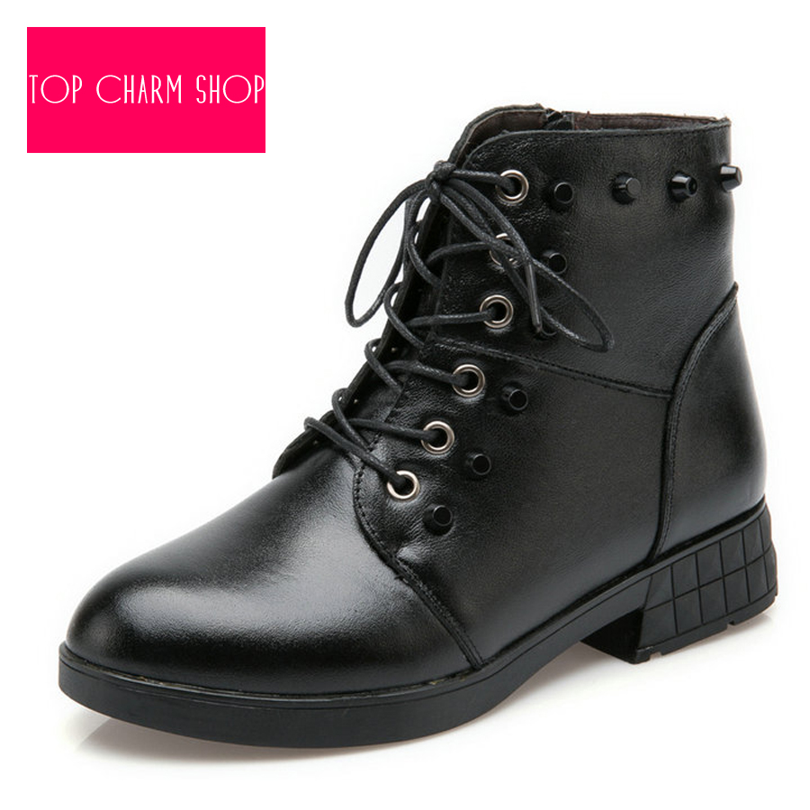 05187de7b72 Get Quotations · New Sale Women s Boots Women Ankle Boot 2015 New Fashion  Spring Autumn PU Leather Lace-