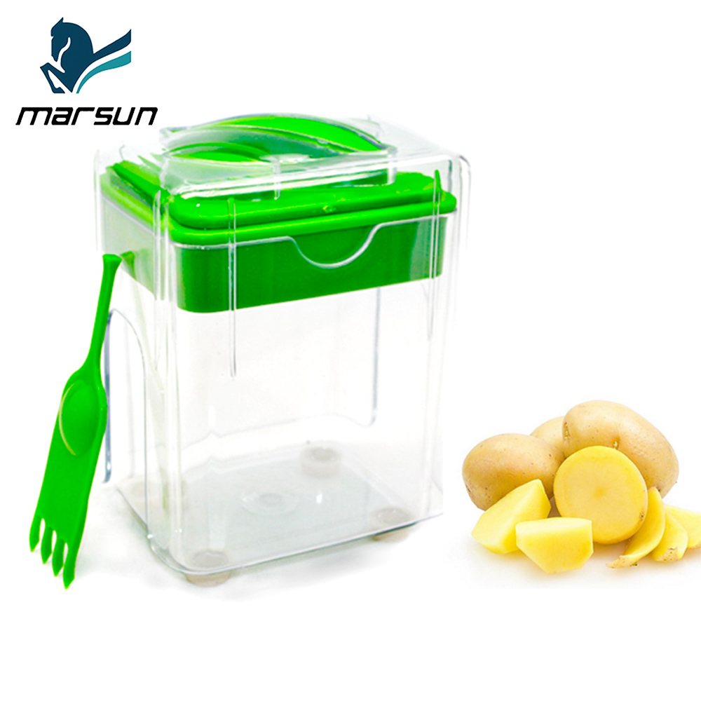 Amazon best new multi-purpose green color manual plastic tri-blade vegetable dicer potato slap chop magic chopper