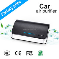 Airbus green car anion air purifier ionizer dust collector hepa portable air conditioner for car