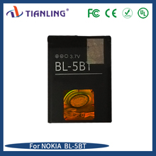 Wholesale high quality mobile phone battery BL-5BT 3.7V for Nokia 2600c N75
