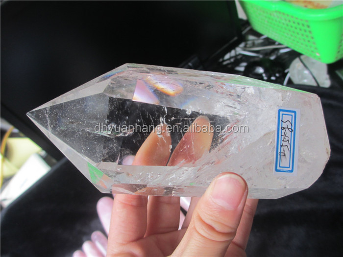 Natural full clear quartz crystal points for sale,healing crystal point of sale