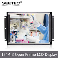 "15"" industrial monitor 1000cd/m2 high brightness usb touch screen panel for open frame"