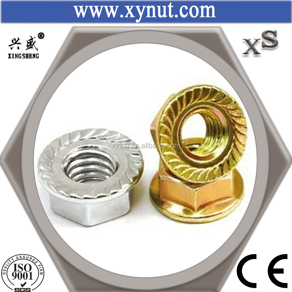 Factory Price Galvanized White DIN6923 M8 Carbon Steel Hex Cap Nut
