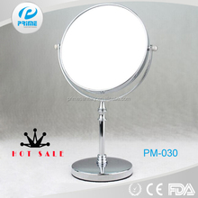 Chinese bathroom round iron no foldable standing mirror