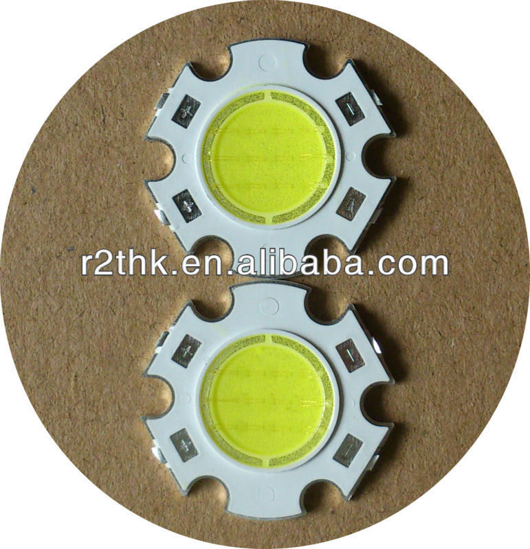 Round COB LED,Superbrightness 5w led chip For Spotligh in Shenzhen with <strong>CE</strong> & RoHS