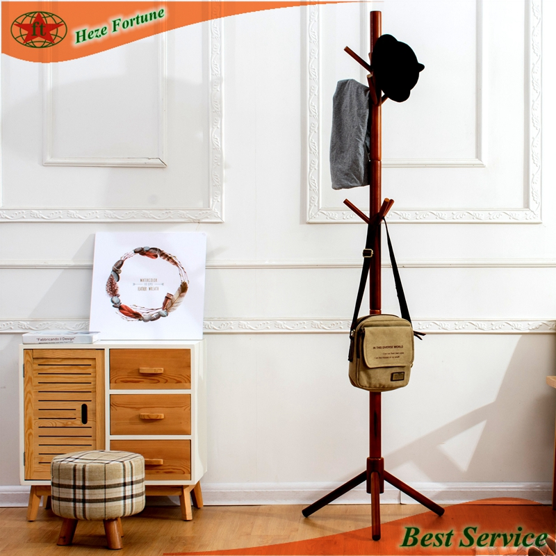 Wholesale assembled wood clothes rack hanger