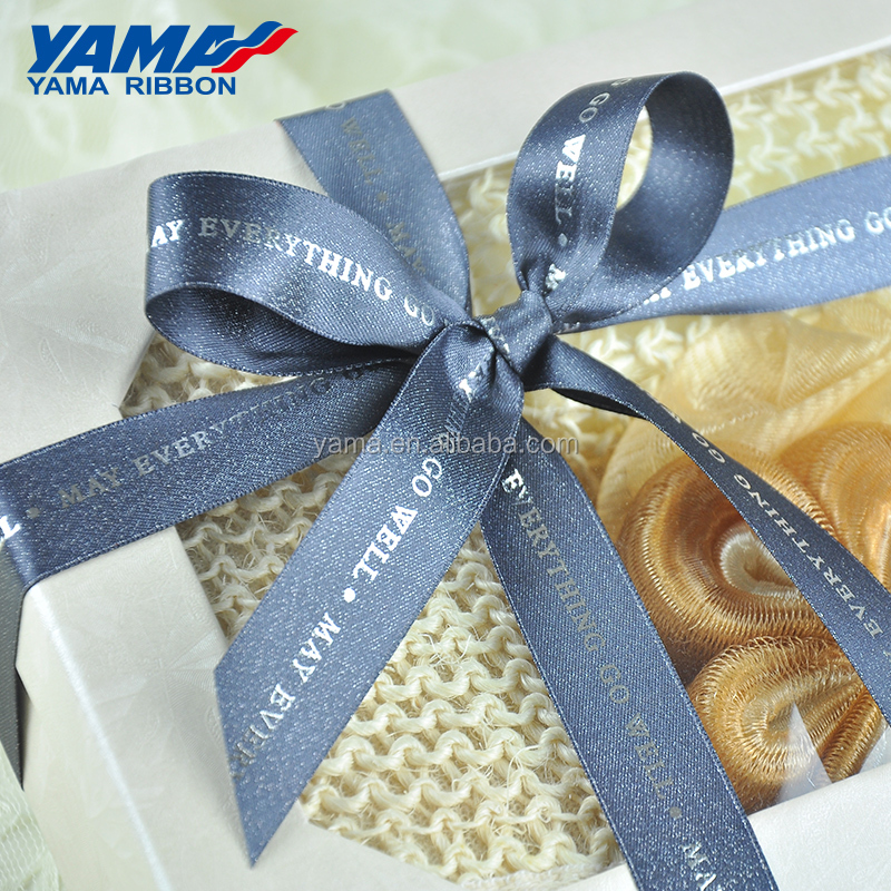 YAMA factory printed crafts satin grosgrain custom logo ribbon