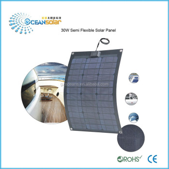 Excellent new 30W flexible solar panels prices semi flexible solar panel portable solar panel china supplier