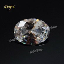 Shining White Oval Cubic Zirconia Gems