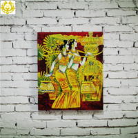 India customs traditional culture theme print painting