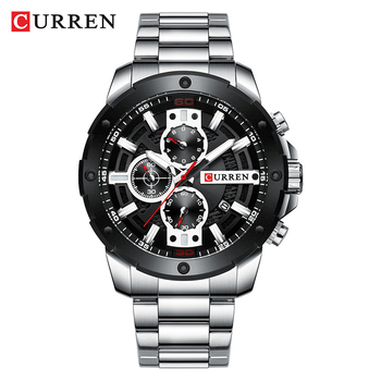 CURREN 8336 Men Japan Original Quartz Gold Time Watches Fashion Stainless Steel Calendar Business Wristwatch